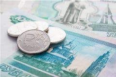 Russische roebels en duizenden roebels Royalty-vrije Stock Fotografie