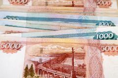 Russische Rubel Stockbilder