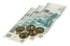 Russische Rubel Stockfotografie