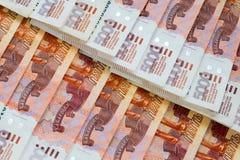5000 russische Rubel abstrakte Hintergrund der Banknoten Stockbild