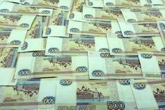 500 russische Rubel Anmerkungs-Bürogewinn weniger Anmerkungen, Lizenzfreie Stockbilder