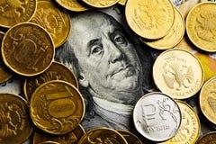Russische Rubel Münzen Stockfotografie