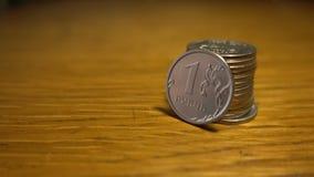 Russische Rubel Nahaufnahmemünzen Stockbild