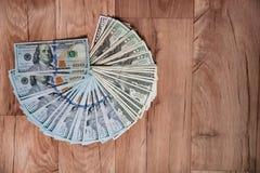 Russische Rubel und amerikanische Dollar Stockbild