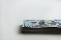 Russische Rubel und amerikanische Dollar Lizenzfreie Stockbilder