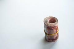 Russische Rubel und amerikanische Dollar Lizenzfreies Stockfoto