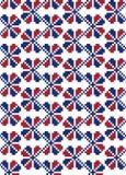 Russische Südverzierung Nahtloses Muster in Blauem und in Rotem lizenzfreie abbildung