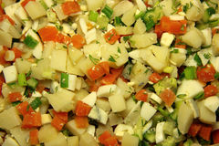 Russische salade Stock Afbeelding