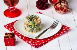 Russische salade Royalty-vrije Stock Afbeeldingen