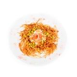 Russische salade met zalmvissen Stock Fotografie