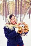 Russische Schönheit. Lizenzfreies Stockfoto