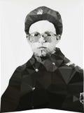 Russische Soldatporträt-Winterform geometrisch Stockfotos