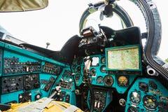 Russische Sovjet multifunctionele vervoerhelikopter Stock Foto's