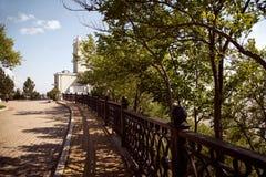 Russische Stadt von im Stadtzentrum gelegenem Stadtbild Chabarowsks Lizenzfreies Stockbild