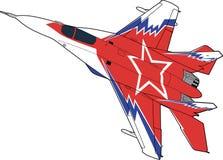 Russische straalvechtersvliegtuigen mig-29 royalty-vrije illustratie