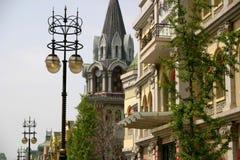 Russische straat in Dalian royalty-vrije stock afbeeldingen