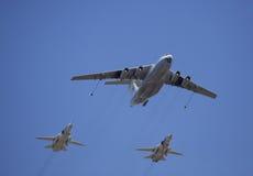Russische Strahlenbomber der Luftwaffe zwei Lizenzfreie Stockfotografie