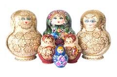 Russische stuk speelgoed matrioska Stock Foto