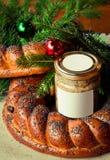 Russische Tabelle des traditionellen Slavic Weihnachts Lizenzfreie Stockfotos
