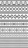Russische traditionele naadloze patronen De dwars-steek royalty-vrije illustratie