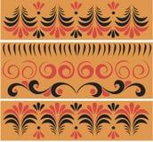 Russische traditionele patronen Stock Afbeeldingen