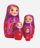 Russische traditionele pop - Matrioshka stock foto's