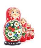 Russische verschachtelte Puppen Stockfotos