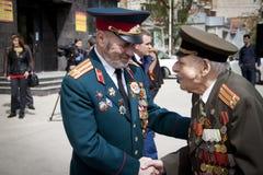 Russische veteranen van Wereldoorlog II royalty-vrije stock fotografie