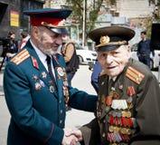 Russische veteranen van Wereldoorlog II stock fotografie