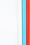 Russische vlag die uit potloden wordt gemaakt Stock Foto's