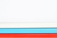 Russische vlag die uit potloden wordt gemaakt Stock Afbeeldingen