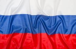 Russische vlag Rusland Stock Afbeelding