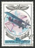 Russische Vliegtuigen, de tweedekker van R 3 royalty-vrije stock foto's