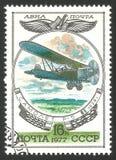 Russische Vliegtuigen, tweedekker r-5 royalty-vrije stock afbeeldingen