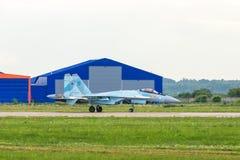 Russische vliegtuigvechter su-35 flanker-E Stock Foto's