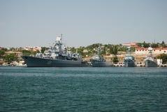Russische vloot in de Krim Stock Afbeelding
