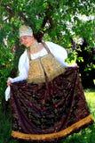 Russische Volkskleidung Stockfotografie
