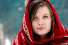 Russische vrouw Royalty-vrije Stock Afbeeldingen