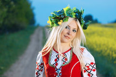 RUSSISCHE VROUW Royalty-vrije Stock Afbeelding