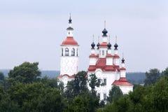 Russische witte Orthodoxe Kerk Royalty-vrije Stock Afbeeldingen