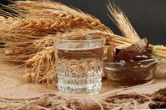 Russische wodka naturmort Royalty-vrije Stock Foto's