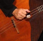 Russischer Bass-Balalaikamusiker in Paris, Frankreich lizenzfreies stockbild