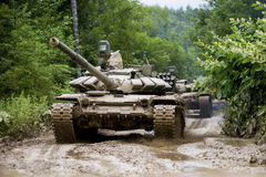 Russischer Behälter T-90 Lizenzfreie Stockfotografie