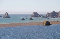 Russischer Fluss, der Calif-Meer kommt Lizenzfreies Stockfoto