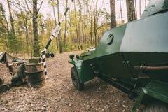 Russischer gepanzerter sowjetischer Pfadfinder Car Ba-64 des Zweiten Weltkrieges nahe Ger Stockbilder