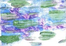 Russischer grüner abstrakter Aquarellhintergrund Stockfotografie