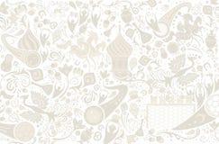 Russischer Hintergrund, Vektorillustration lizenzfreie abbildung
