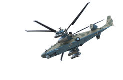 Russischer Hubschrauber Ka-52 (Alligator Stockfoto