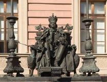 Russischer Kaiser Paul, den der erste auf dem Thron sitzt Lizenzfreies Stockfoto