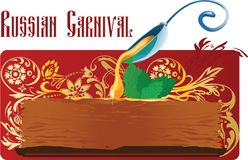 Russischer Karneval Maslenica Blini und Honig Stockbild